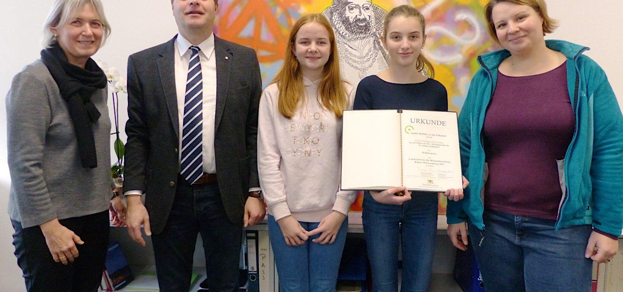 Geschichts-AG des NKG erhält weitere Auszeichnung